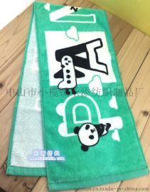 厂家定制广告礼品全棉割绒活性印花运动毛巾
