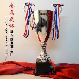 街头篮球三人团队奖杯 足球赛事奖杯 **银色奖杯 个性奖杯定制