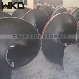福建武夷山洗煤矸石溜槽选矿设备,尾矿回收螺旋溜槽