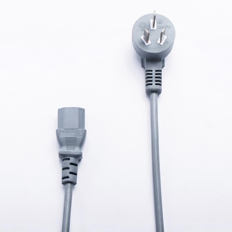 国标三插插线头 电脑电饭煲电源线  插头线 大功率品字尾