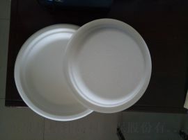 一次性盘可降解纸浆盘甘蔗浆盘快餐盘