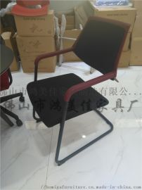 廠家定制皮制軟包帶扶手培訓辦公會議椅