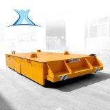 搭載滾輪支架大噸位無軌搬運車搬運不鏽鋼管電動無軌平車