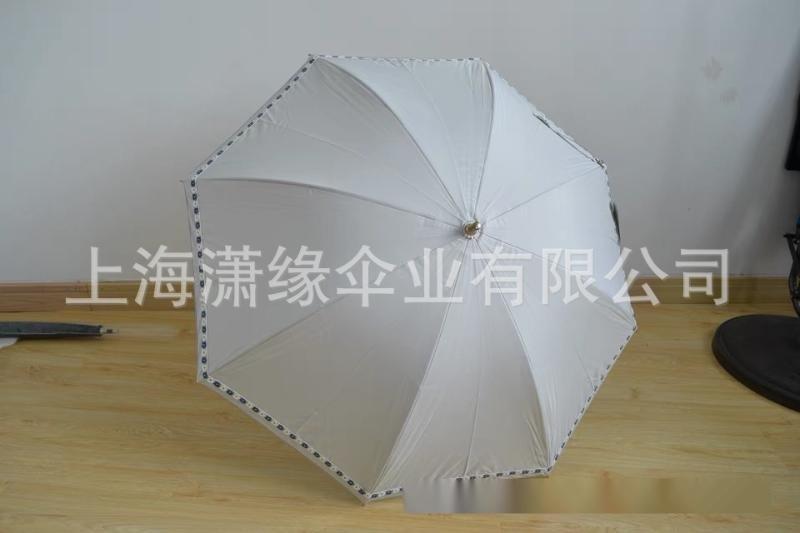 高密度碰擊銀膠佈防紫外線兩節式可伸縮傘杆傘面立體繡花小巧精緻