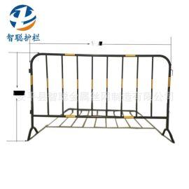 黄黑临时铁马可定制喷塑铁马护栏 厂家直销马路围栏施工隔离护栏