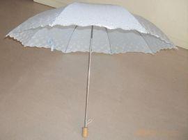 两折绣花虎骨外翻伞 女式绣花伞 女款花边遮阳伞