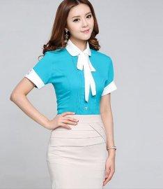 女士襯衫工作服裝 短袖襯衫