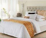 白色加厚加密贡缎缎条被套床单枕套四件套
