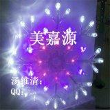 LED雪花燈、15公分雪花燈、LED發光雪花燈掛件、聖誕雪花燈