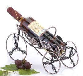 欧式创意红酒架酒杯架复古铁艺时尚简约红酒瓶架三轮车琴型红酒架
