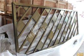 青古銅拉絲斜列式不鏽鋼隔斷 時尚美觀不鏽鋼屏風