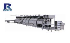 RY-系列全自动滚筒式超声波光饰清洗生产线