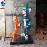 美國好萊塢迪斯尼主題卡通人物雕塑玻璃鋼擺件 貓和老鼠創意造型卡通組合擺件工藝品