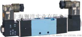 气动元件电磁阀 4V120-06/M5-220V/24V气缸配件控制阀门气阀快排阀门