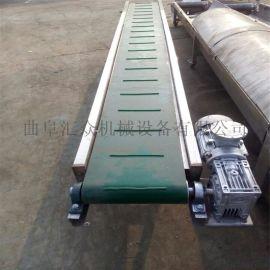散包两用胶带输送机  防滑移动式皮带机  卡车装卸货物输送机 卡车装卸货物输送机