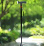 厂家专利产品 铝合金LED报 手杖 SOS求救户外登山杖