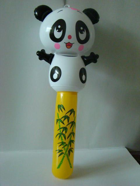 PVC卡通儿童充气棒  熊猫助威啦啦棒