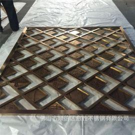 天水室外不锈钢做旧仿古铜装饰花格屏风  室外抗氧化古铜隔断