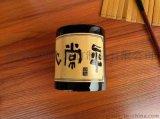 竹雕字画毛笔筒竹木收纳筒 手工竹雕摆件办公笔筒