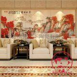 定做室内装饰壁画 公司壁画 景德镇青花瓷壁画加工厂