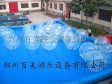 水上步行球價格 水上透明滾筒生產廠家