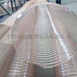 PU钢丝伸缩管,透明钢丝管,耐磨吸尘钢丝管的价格