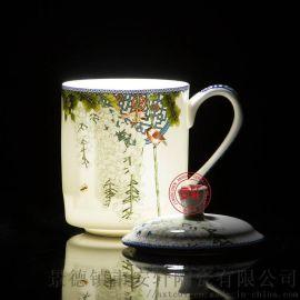商务礼品茶杯厂家,青花瓷礼品办公杯子