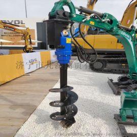 山东挖机螺旋钻机 液压钻孔机 挖机多功能属具