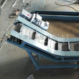 物流输送不锈钢链板爬坡机 小型耐腐蚀链板提升机