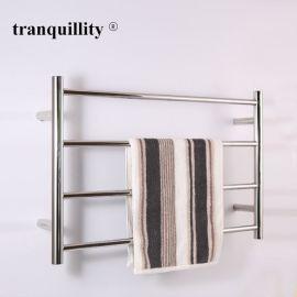 外贸出口电热毛巾架4杆圆管毛巾架不锈钢电热毛巾架