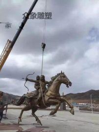 厂家直销广场铸铜马雕塑