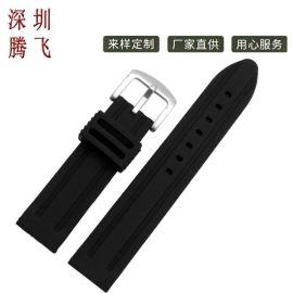 深圳厂家直销 18mm 20mm 22mm 24mm 通用硅胶表带 suunoto手表适用 多色可选