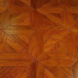 厂家直销 艺术拼花15MM榆木多层实木复合地板 地热 背景墙