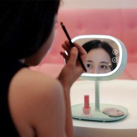 创意化妆镜台灯 usb充电触摸调光带镜子收纳三合一创意护眼台灯