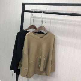 一二线品牌折扣女装羊毛衫2018时尚货源批发市场