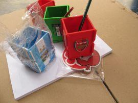 pvc软胶笔筒,软胶组合笔筒,微量射出礼品笔筒