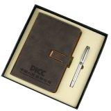 現貨商務皮面記事本禮品套裝加厚筆記本文具禮盒本子定制訂做logo