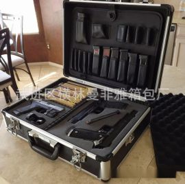定制高端手提密码锁仪器箱 铝合金样品展示箱 铝制仪器箱专业定制