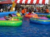 公园儿童游乐一个充气水池配手摇船多少钱