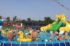 河南支架水乐园直销支架游泳池厂家
