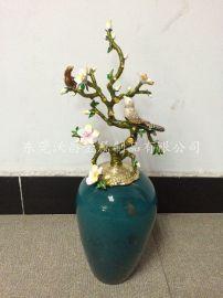 欧式创意家居花瓶  金属纯手工珐琅彩陶瓷装饰花瓶礼品定制
