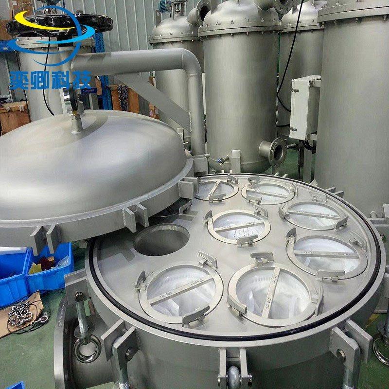 YQDSXZ8袋式过滤器 喷砂 可定制 不锈钢多袋式过滤器 质保2年!