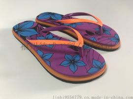 (厂家直销)夏季人字拖花色沙滩 夹拖 休闲简约低跟白搭女士凉鞋