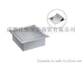 台面嵌入式方形垃圾桶 304不锈钢 摇盖式清洁桶