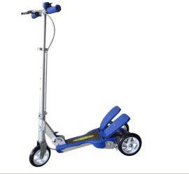 儿童脚踏滑板三轮车