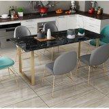 簡約大理石家用餐桌 用餐桌長方形金屬餐桌椅新品定制