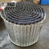 链板机床铁销排屑机不锈钢链板刮板式排屑机链板