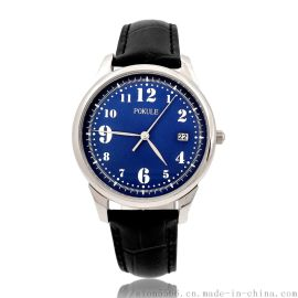 XJK-1805C不鏽鋼殼真皮表帶男裝石英手表