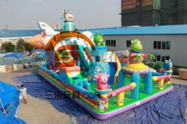 河北保定充氣滑梯兒童遊樂園支持訂制