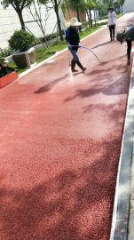 彩色防滑路面刮涂1毫米材料黑色沥青路面改色喷涂面层